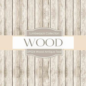 Digital Papers - Wood Antique Teal (DP024)