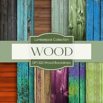Digital Papers - Wood Backdrops (DP1525)