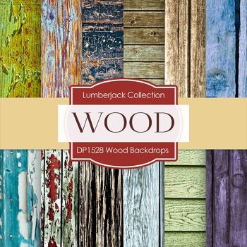Digital Papers - Wood Backdrops (DP1528)