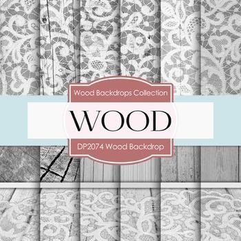 Digital Papers - Wood Backdrops (DP2074)