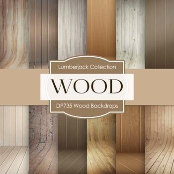 Digital Papers - Wood Backdrops (DP735)