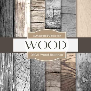 Digital Papers - Wood Bleached (DP021)