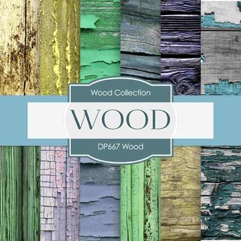 Digital Papers - Wood (DP667)