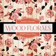 Digital Papers - Wood Florals (DP4099)