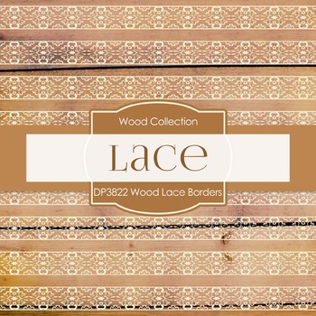 Digital Papers - Wood Lace Borders (DP3822)