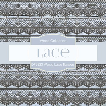 Digital Papers - Wood Lace Borders (DP3823)