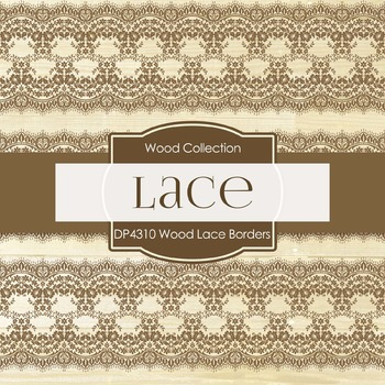 Digital Papers - Wood Lace Borders (DP4310)