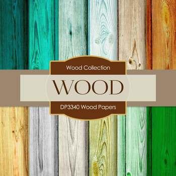 Digital Papers - Wood Papers (DP3340)