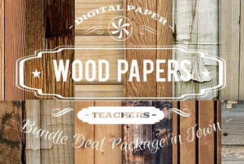 Digital Papers - Wood Papers Patterns Bundle Deal
