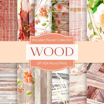 Digital Papers - Wood Prints (DP1424)