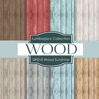 Digital Papers - Wood Sunshine (DP018)