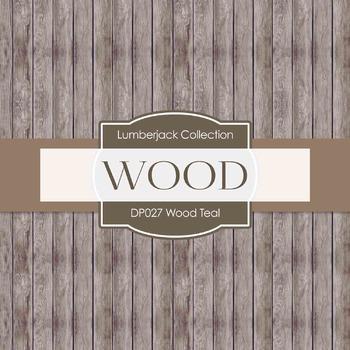 Digital Papers - Wood Teal (DP027)