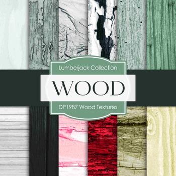 Digital Papers - Wood Textures (DP1987)