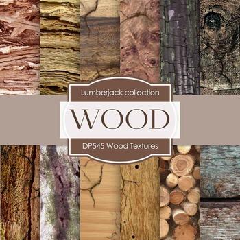 Digital Papers - Wood Textures (DP545)