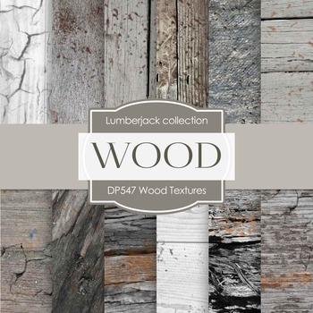 Digital Papers - Wood Textures (DP547)