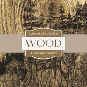 Digital Papers - Wood Textures (DP548)