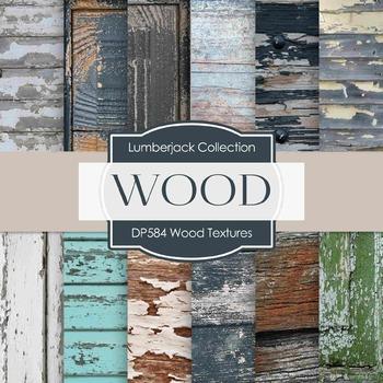 Digital Papers - Wood Textures  (DP584)