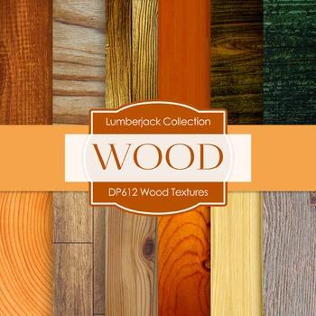 Digital Papers - Wood Textures  (DP612)