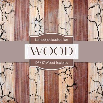 Digital Papers - Wood Textures (DP647)