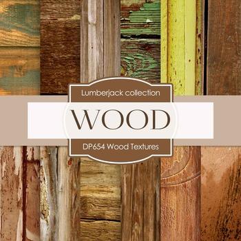 Digital Papers - Wood Textures (DP654)