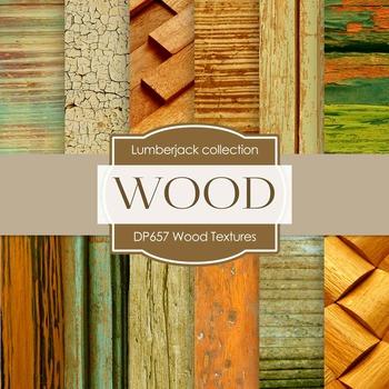 Digital Papers - Wood Textures (DP657)