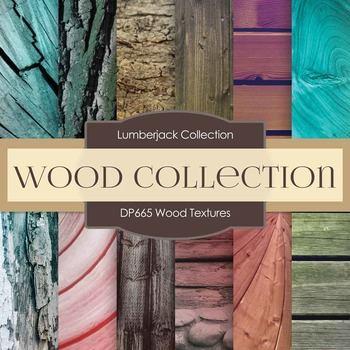 Digital Papers - Wood Textures (DP665)