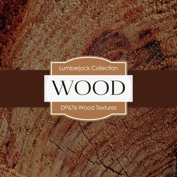 Digital Papers -  Wood Textures (DP676)