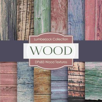 Digital Papers -  Wood Textures (DP683)
