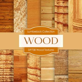 Digital Papers -  Wood Textures (DP738)