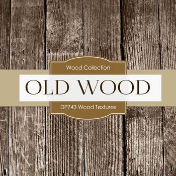 Digital Papers - Wood Textures  (DP743)