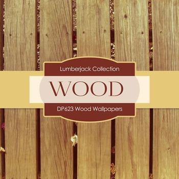 Digital Papers - Wood Wallpapers (DP623)