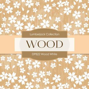 Digital Papers - Wood White (DP822)
