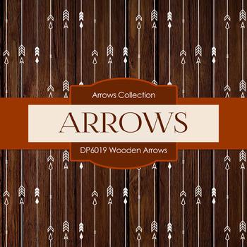 Digital Papers - Wooden Arrows (DP6019)
