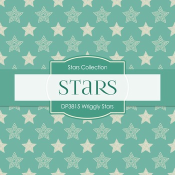 Digital Papers - Wriggly Stars (DP3815)