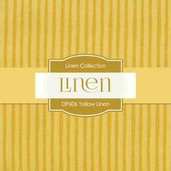 Digital Papers - Yellow Linen  (DP606)