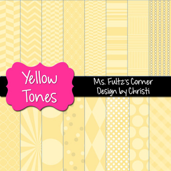 Digital Papers: Yellow Tones