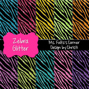 Digital Papers: Zebra Glitter