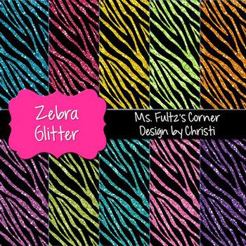 Digital Papers: Zebra Glitter