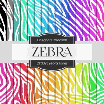 Digital Papers - Zebra Tones (DP3023)