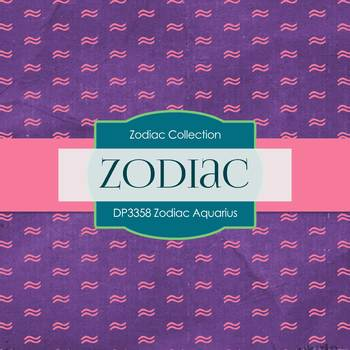 Digital Papers - Zodiac Aquarius (DP3358)