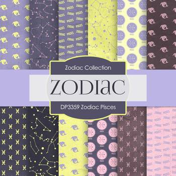 Digital Papers - Zodiac Pisces (DP3359)