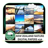 Digital Papers and Backgrounds New Zealand Nature x 50 Col