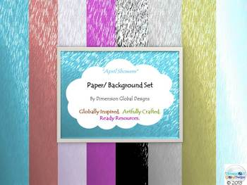 Papers and Backgrounds Set : April Showers