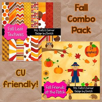 Digital Papers and Clip Art Combo: Fall