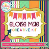 Digital Papers and Frames ELOISE MAE Creative Kit