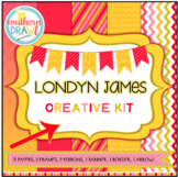 Digital Papers and Frames LONDYN JAMES Creative Kit