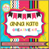 Digital Papers and Frames ANNA KATE Creative Kit