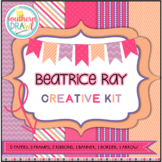 Digital Papers and Frames BEATRICE RAY Creative Kit
