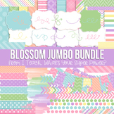 Digital Papers and Frames Blossom Jumbo Set Spring Easter