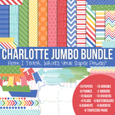 Digital Papers and Frames Charlotte Jumbo Set